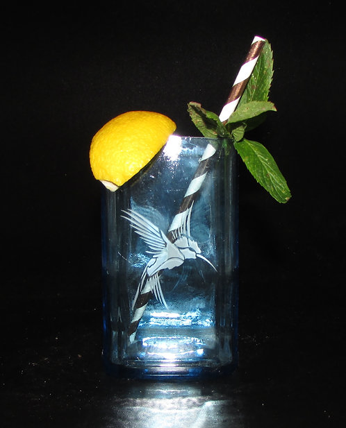 Kingfisher Blue Cocktail Glass