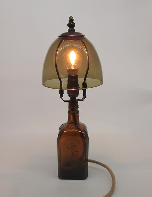 Brown and Olive table lamps.