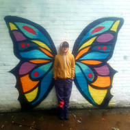 Butterfly Mural at Rise Learning Zone