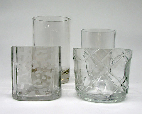 Upcycled drinking glasses