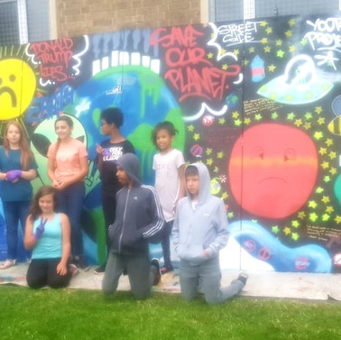 Climate Change Mural, Youth Group