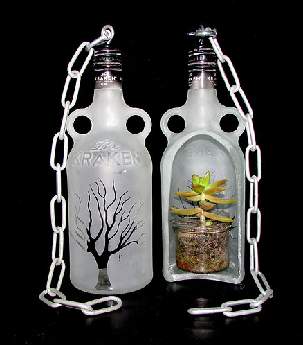 Upcycled Bottle Plant Hangers