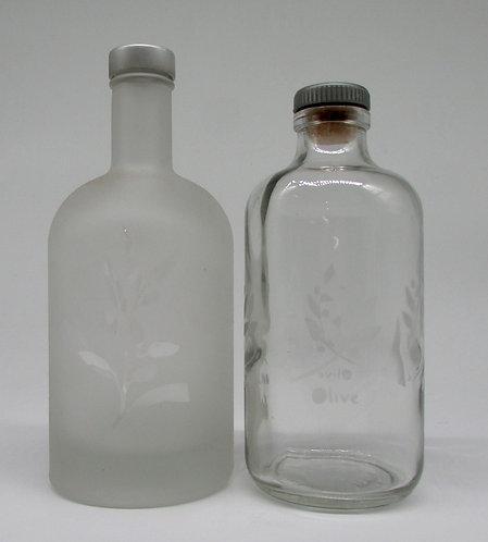 Repurposed bottles for olive oil