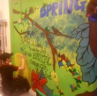 Spring Mural in school