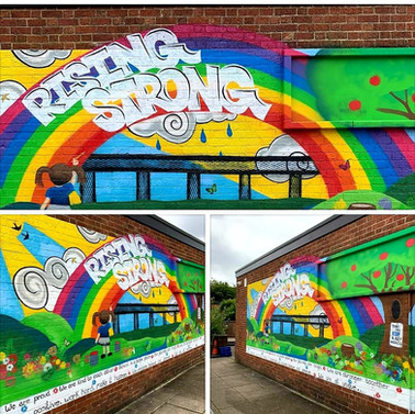 Rising Strong Mural