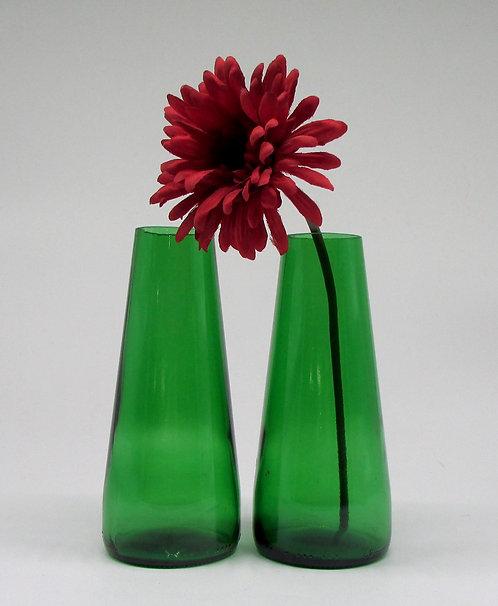 Upcycled Bottle Single Flower Vases