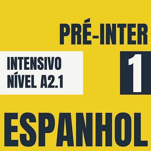 Dez/2020 Intensivo Pré-Intermediário 1 - Espanhol (A2.1)