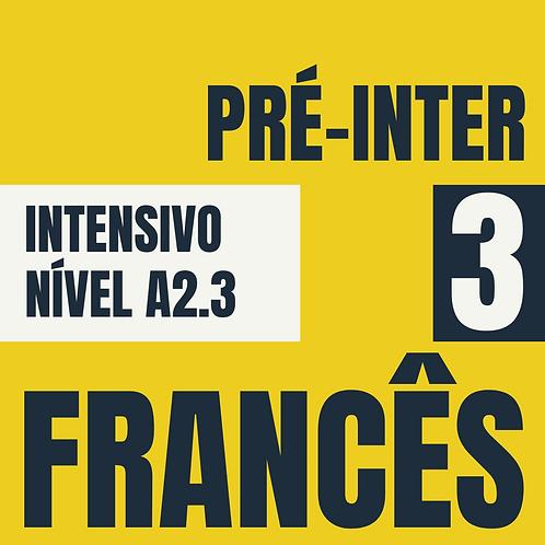 Dez/2020 Intensivo Pré-Intermediário 3 - Francês  (A2.3)