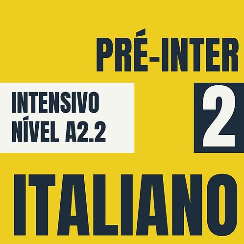 Dez/2020 Intensivo Pré-Intermediário - Italiano (A2.2)