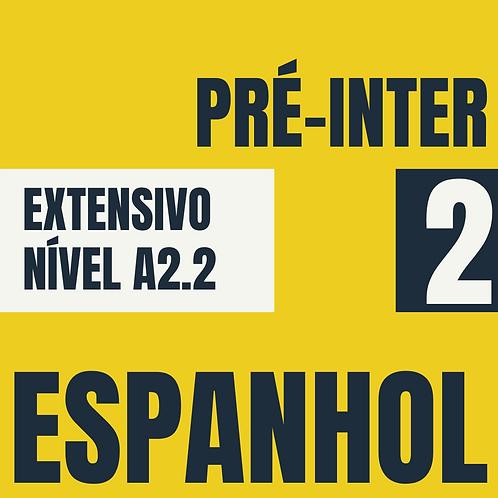 Pré-Intermediário 2 - Espanhol (A2.2)