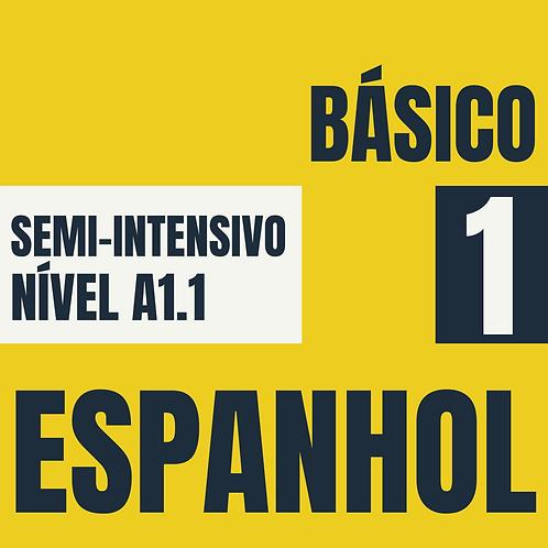 Semi-Intensivo Básico 1 - Espanhol  (A1.1)