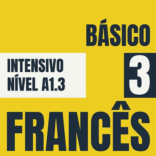 2021 - Intensivo Básico 3 - Francês  (A1.3)