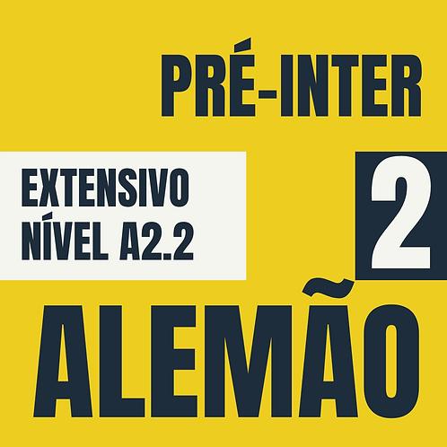 Pré-Intermediário 2  - Alemão (A2.2)