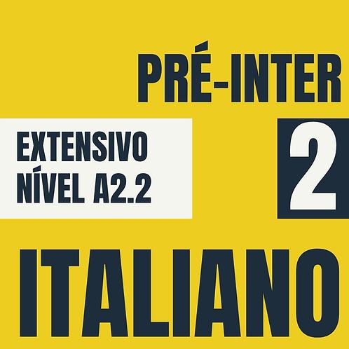 Pré-Intermediário 2 - Italiano (A2.2)