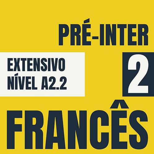 Pré-Intermediário 2  - Francês (A2.2)