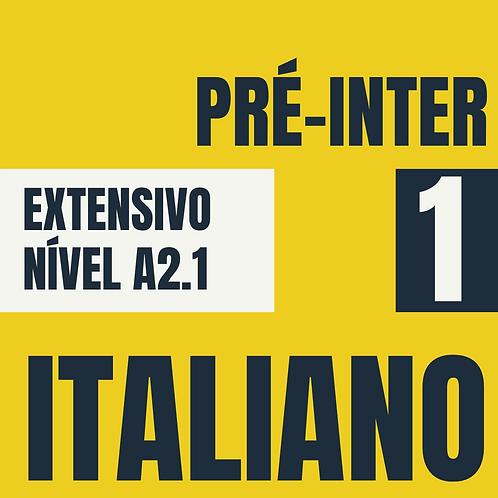 Pré-Intermediário 1 - Italiano (A2.1)