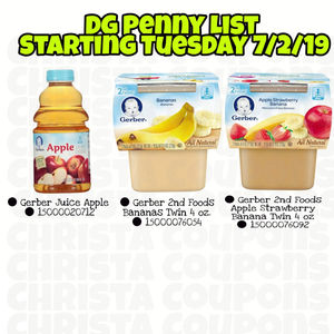 Dollar General Penny List for Tuesday July 2, 2019