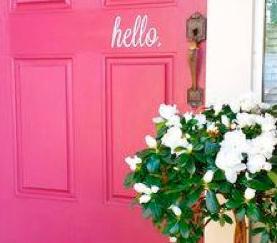 The front door...