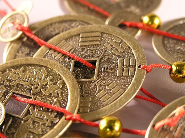 Feng shui is all about symbolism. Gold coins such as these r