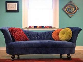 Sofa as art...added to new office space.