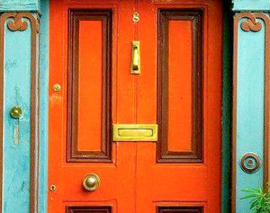 Think 'fabulous' for the front door...