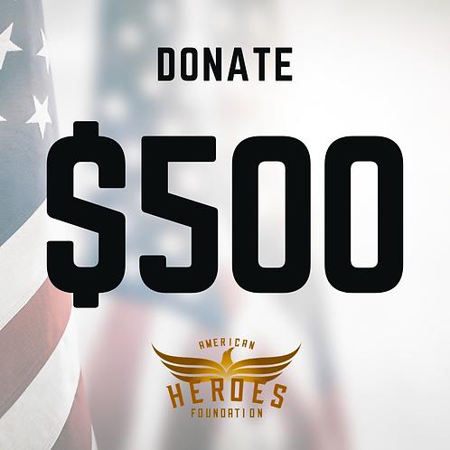 Donate $500 to AHF