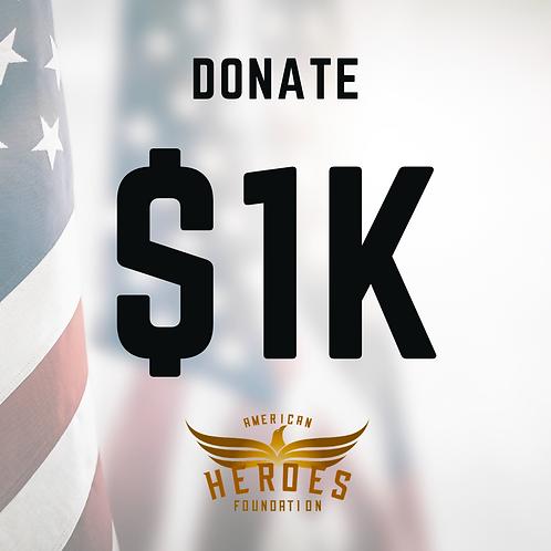 Donate $1K to AHF