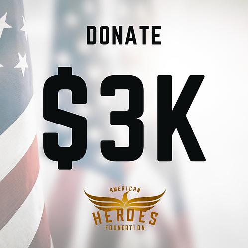 Donate $3K to AHF