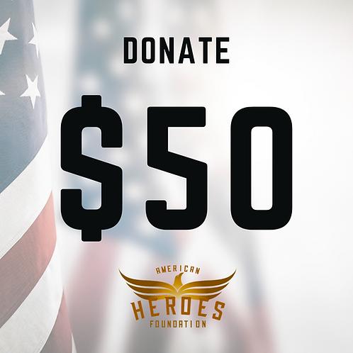 Donate $50 to AHF