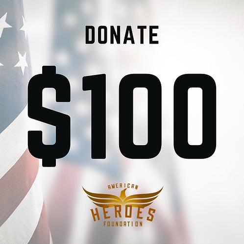 Donate $100 to AHF