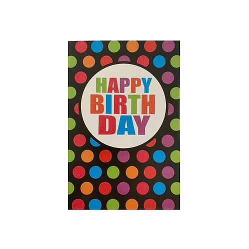 Happy Birthday Glitter Dots