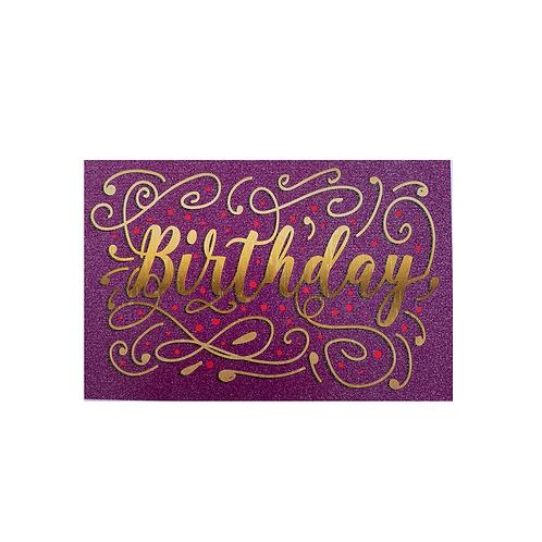 Birthday Purple Glitter