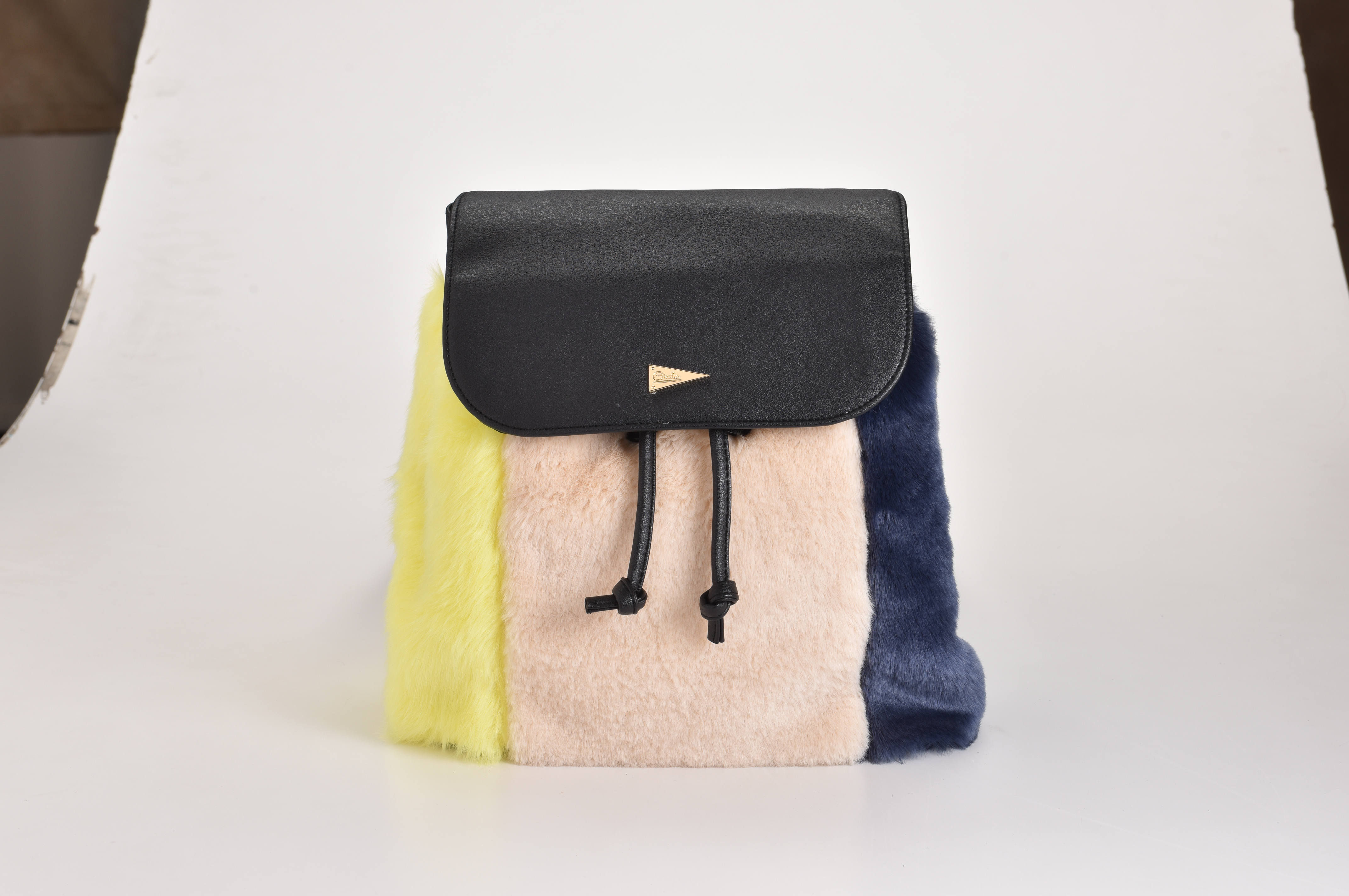 Fur BackPack (Yellow/Red)