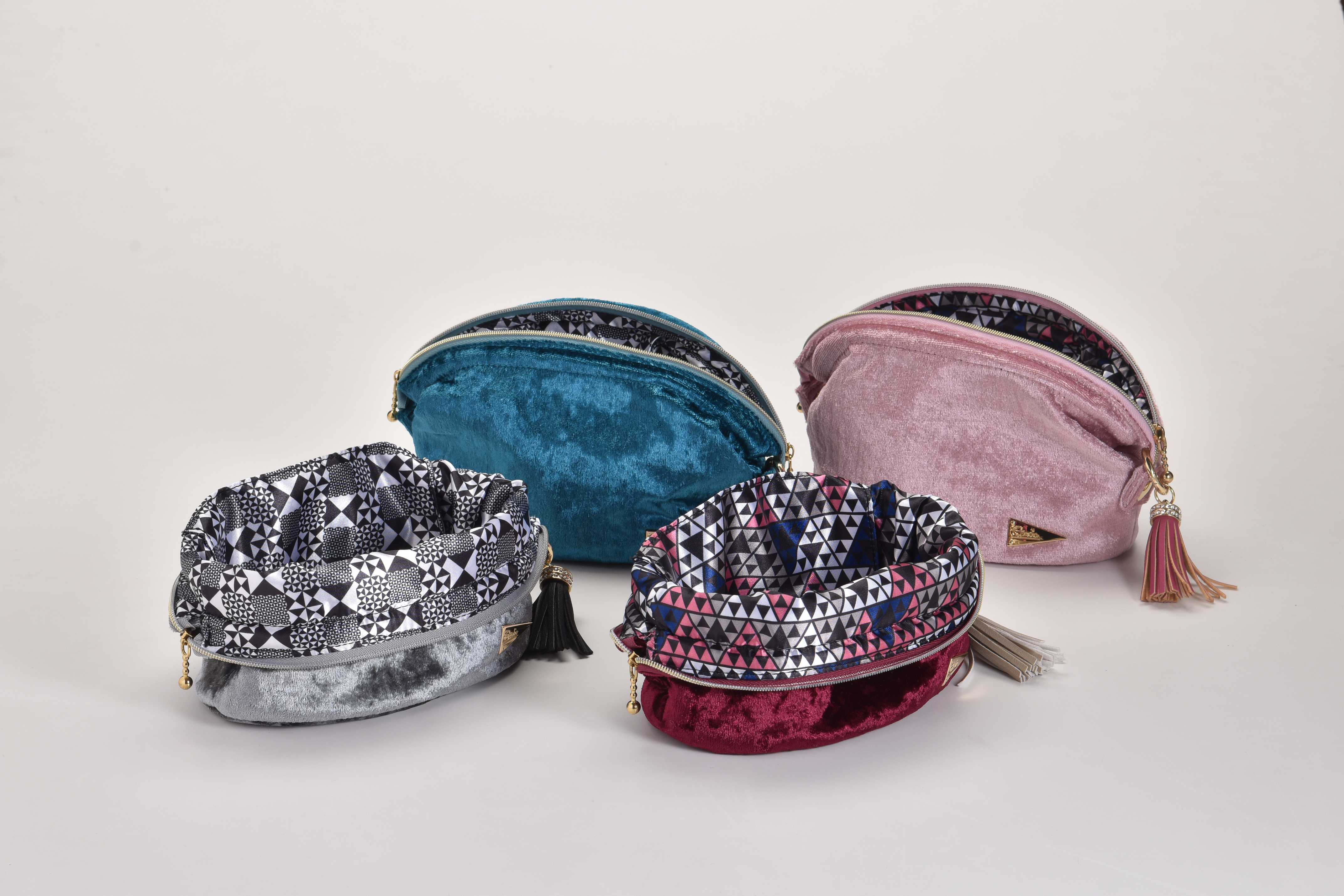Wire Pouch(Silver/Blue/WineRed/Pink)