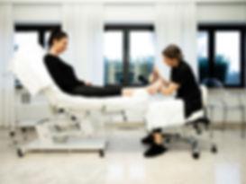 Professionele pedicure behandeling