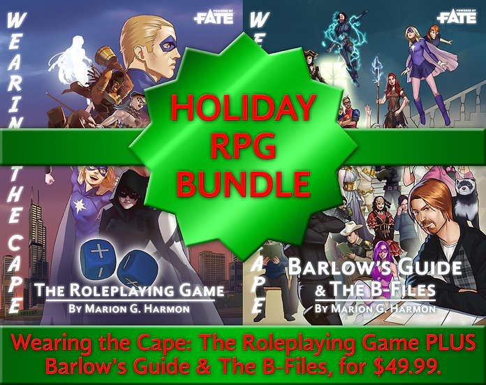 Wearing the Cape RPG Complete Book Bundle