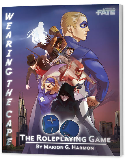 Wearing the Cape: The Role Playing Game Book and PDF Bundle