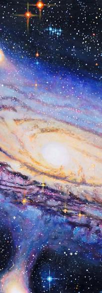 Andromeda Galaxy painting