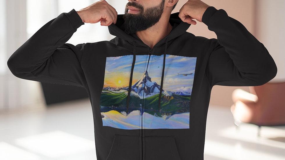 Eagle Mountain Unisex Hooded Zip Sweatshirt