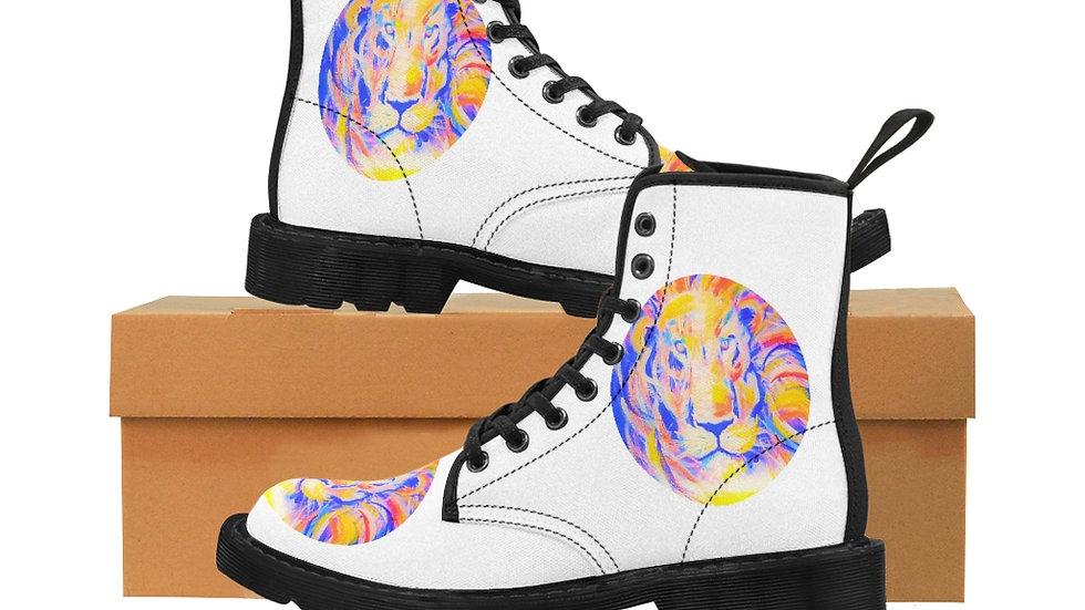 Lion Of Judah Men's Canvas Boots