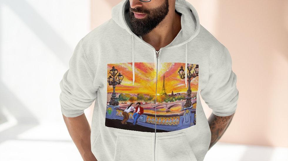 Parisian Art Unisex Premium Full Zip Hoodie