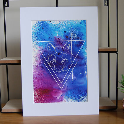 Purple Fox Print LD