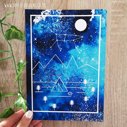 Zodiac Constellation Tent Print