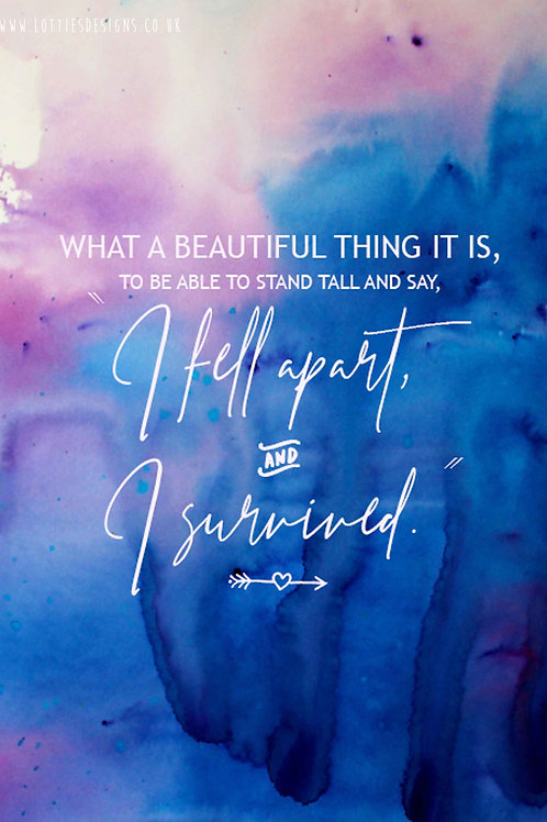 What a Beautiful Thing it is - Print