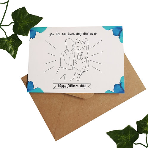 Best Dog Dad Ever Dog Fathers Day Card