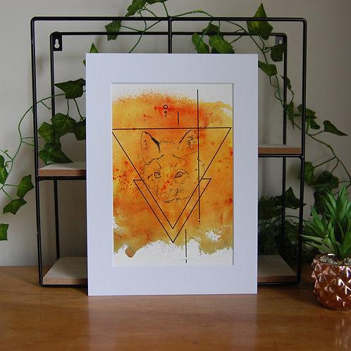 Orange Fox Poster Print.
