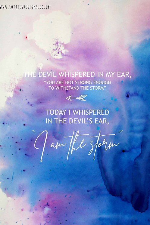 The devil whispered in my ear - Print