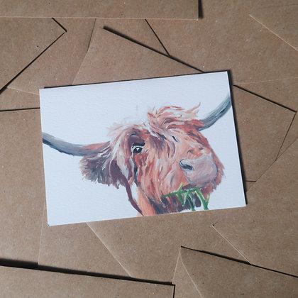 Highland Cow Card LD