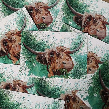 Highland Cow Postcard LD