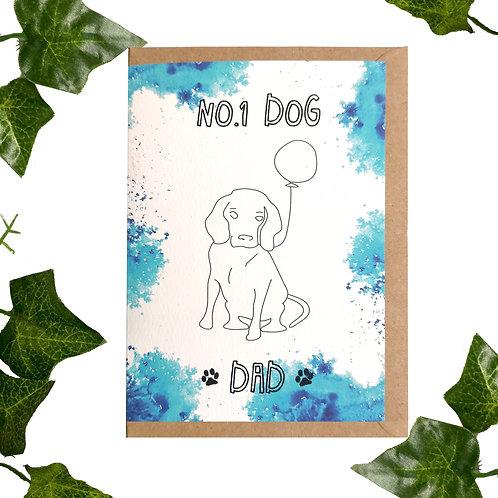 No.1 Dog Dad - Card